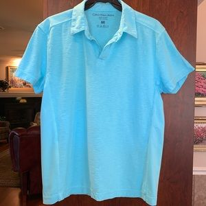 Calvin Klein Jeans Men's Medium Turquoise Polo EUC